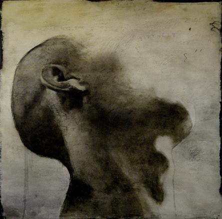 Tu cuerpo que no es cuerpo. Técnica mixta sobre hierro, 150 x 150 cm., 2007