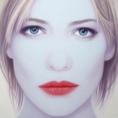 Cate Blanchett II, 100 x 100cm, oil on canvas