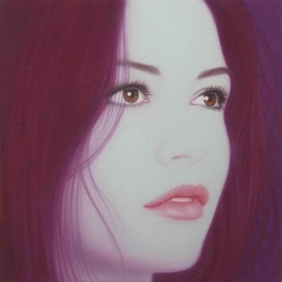 Catherine Zeta Jones II, 50 x 50cm, oil on canvas