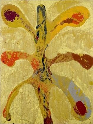 Rota luz amarilla. 200x150 cm. Hoyo de Manzanres, 2008