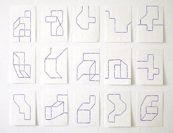El espacio visible, serie dibujos, 2005-6