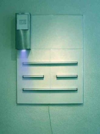Esquema, Mixed media,  cm.101x131x20 - 2003-