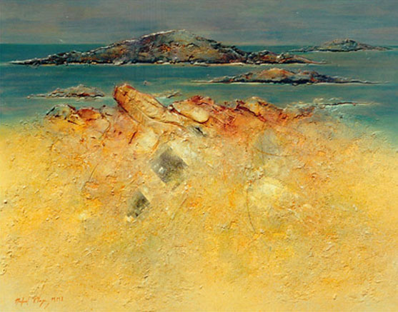 Mediterráneo, Técnica mixta s. lino, 146 X 114