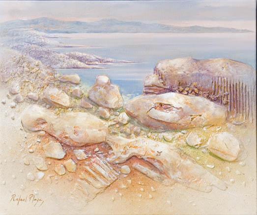 Mediterráneo 221, Técnica mixta s. lino, 46 X 55