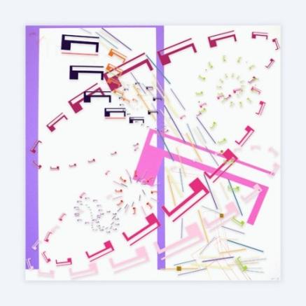 METTA I Impresión digital sobre metacrilato y acrílico 120x120 cm