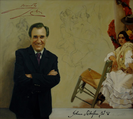 Manolo Escobar. Óleo sobre lienzo