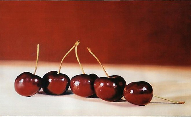 Five Cherries, 80x120cms, oil on canvas
