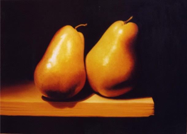 Reubens Pears, 50x70cms, oil on canvas