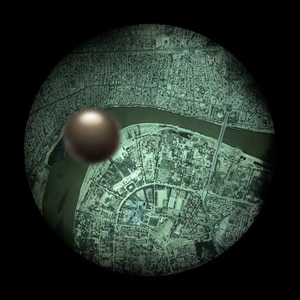 Baghdad abril 2003, 100x100cm