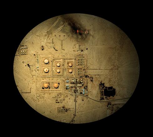 Pozos petroliferos, Irak  115x100cm
