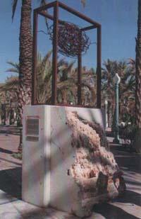 Escultura El hilo del Tiempo. FacoElche 2011. Elche