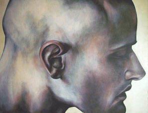 perfil, óleo sobre tela, 128x173cm. 2006.