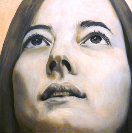 retrato, óleo sobre tela, 90x90 cm. 2008