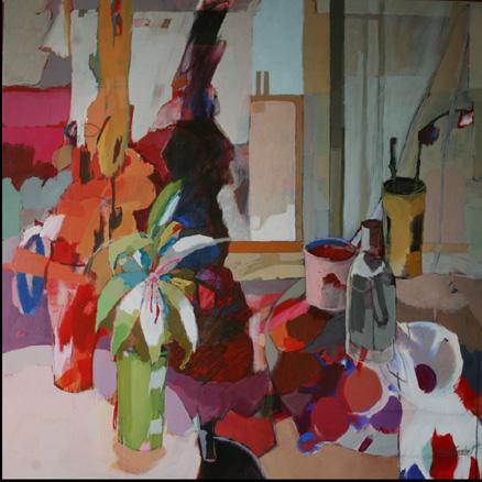 15 de septiembre 6 de la tarde. acrilico sobre lienzo, 100 x100