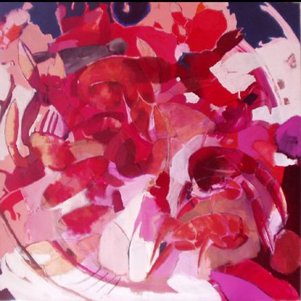 Cangrejos, acrílico sobre lienzo, 100 x100