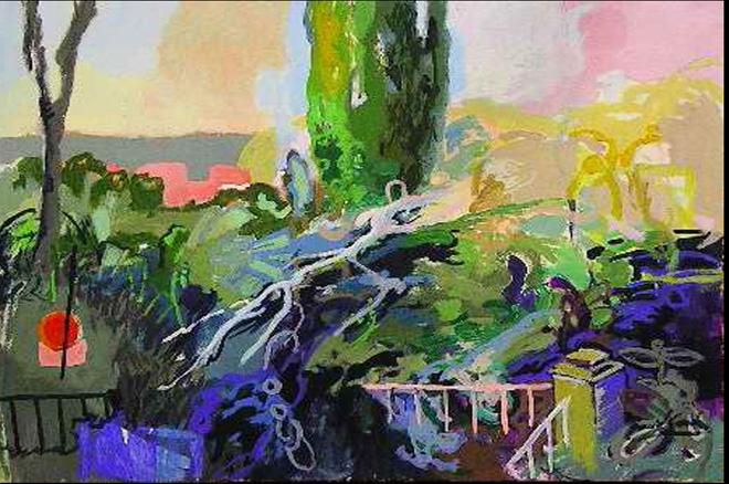 El cípres, acrílico sobre lienzo, 40 x65