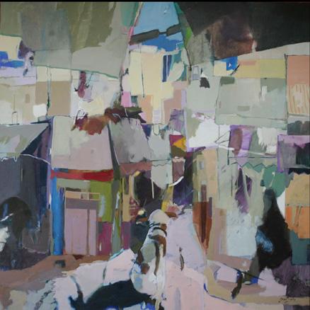 El perro de Marruecos, acrílico sobre lienzo, 100 x100