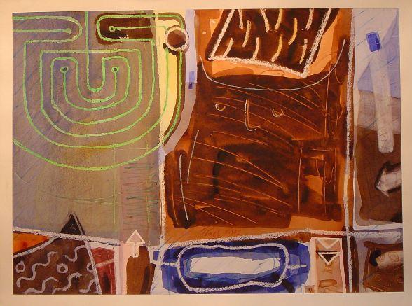Labirinto, Acuarela 0,50 x 0,70m