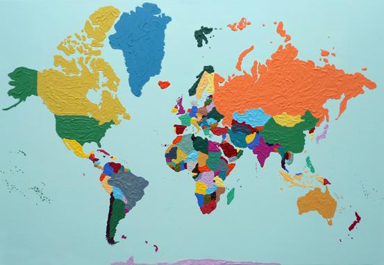 El mundo, 2009. Acrílico sobre lienzo, 130x195cm.