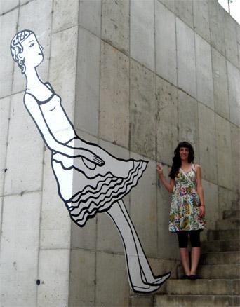 Wellcome to Haslla, Pintura mural en lel Hotel- Museo Haslla. Corea del Sur