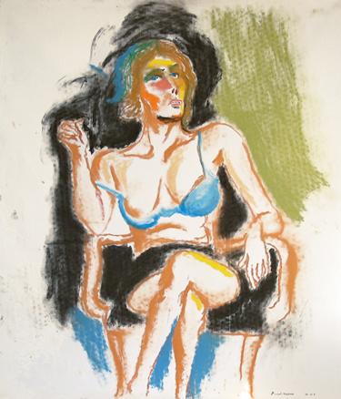 Parvati, 2005, pastel on canvas, 115 x 100 cm