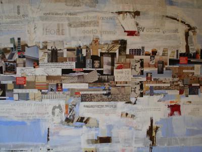 Hope-óleo y collage-1 X1-vendido