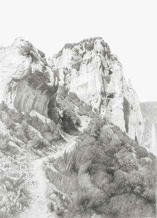 El camino de Otin - lápiz -