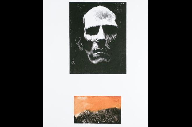 Páginas Mayores - Spinetta. Offset-aguafuerte-poupee. 2004. 76x40 cm.