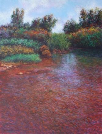 Camino al este óleo-lienzo 116x89