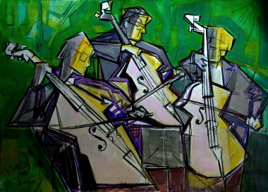 Músicos. Óleo 140x100