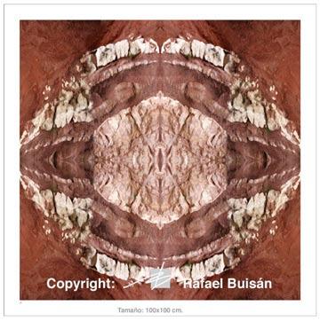 El Ojo de la Tierra 100x100 cm