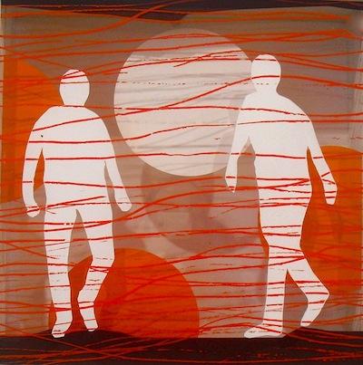 Serie trans-aparences 10 2011 Técnica mixta sobre metacrilato  42 x 42 cm.