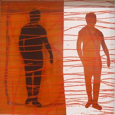 Serie trans-aparences 2011 Técnica mixta sobre metacrilato  42 x 42 cm.
