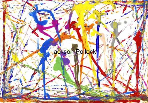 Jackson Pollock, serie Early Works, 100 x 70 cms, fotografia s. aluminio, 2003