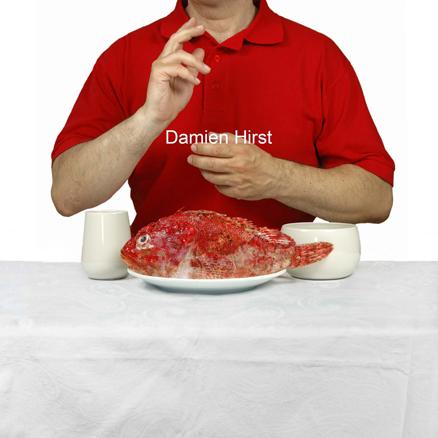 Damien Hirst, serie The Last Supper,  100 x 100 cms, fotografia s. aluminio,