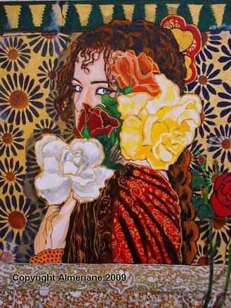 La Dama de Corazones-Oleolienzo-Almeriane 2009