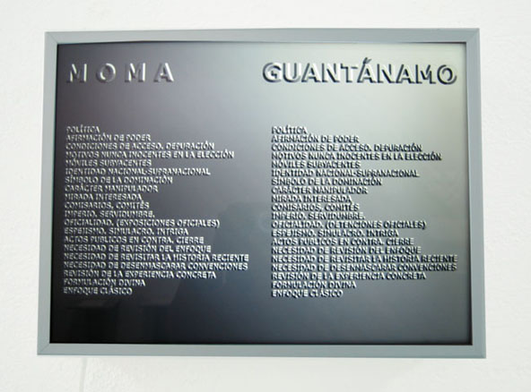 Moma, Guantánamo. 2008. Duratrans.