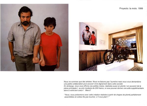 Proyecto La Moto. Instalación. 1999. New Art, Barcelona.