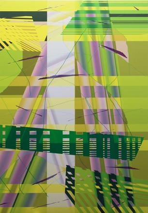 Variación composición 020306. 2007. Impresión digital. 200x135 cm.