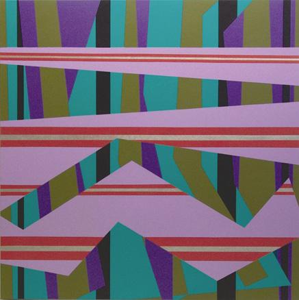 Velocidad sobre el agua. N 2. 2006.  Acrílico sobre lienzo. 190x190x5 cm.