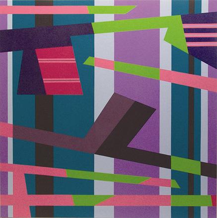 Velocidad sobre el agua. N 3. 2006.  Acrílico sobre lienzo. 190x190x5 cm.