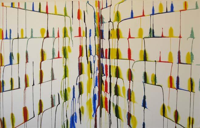 Sin titulo, acuarela sobre papel, diptico,  2010