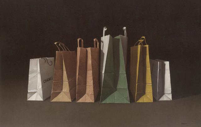 Chanel - Oleo, lienzo sobre tabla. 73 x 116 cm.