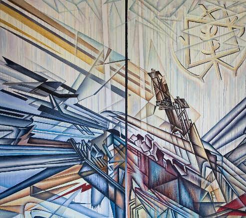 Nuestra historia nos acecha - 97x115 cm. - Acríl.s.lienzo - 2.500 Euros