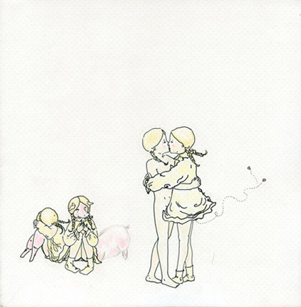 de la serie Neurosis. Tinta sobre papel. 25 X 25 cm. 2002
