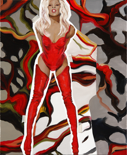 Nuria Rodríguez. El Teorema de Almodovar, 2009. Óleo sobre lienzo 73 x 60 cm.