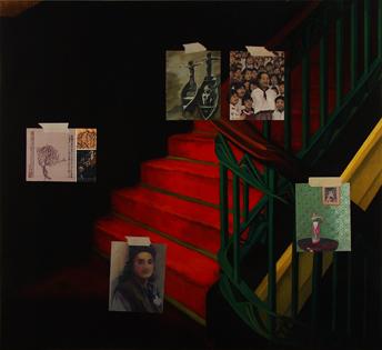 Nuria Rodríguez. El cerebro femenino, 2008. Óleo sobre lienzo. 140 x 150 cm.
