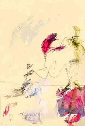 Espacio para lo Nuevo. Collage y Tintas sobre papel. 56 x 38 cm 2010