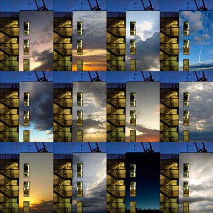 Fire Exit, 2009. Fotografía híbrida en caja de luz. 80 x 80 x 10 cm
