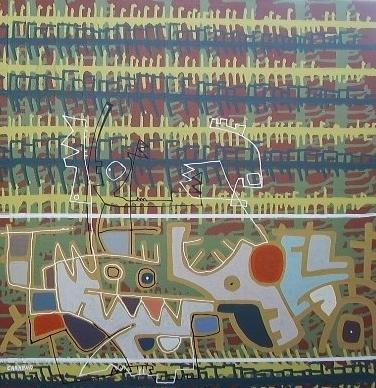 Rio que Desborda-Acrilico stela-50 cm x 60 cm